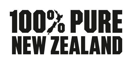 TNZ Tourism New Zealand logo 100% Pure