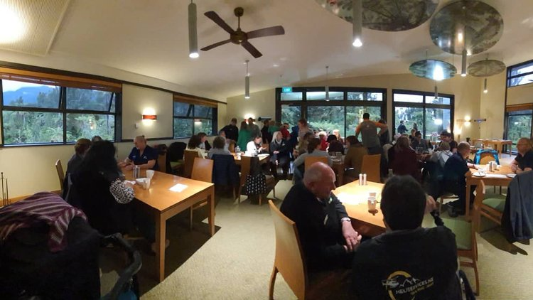 The Glacier Country community gathers to host John Campbell from TVNZ Breakfast.
