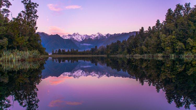 Lake Matheson sunset