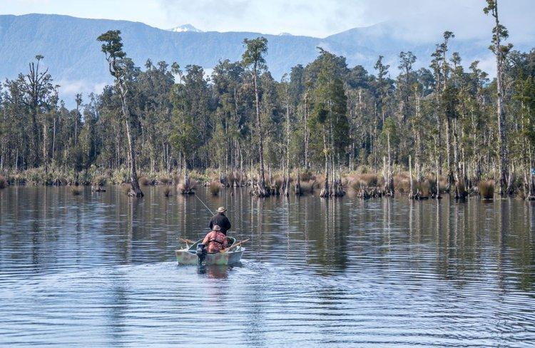 Lake Brunner fishing