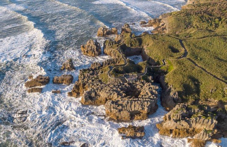 Pancake Rocks and Blowholes- West Coast New Zealand - 0136