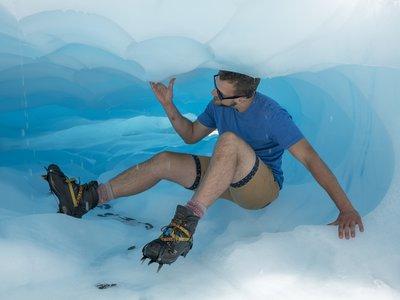 A crevice inside the Fox Glacier - 2456
