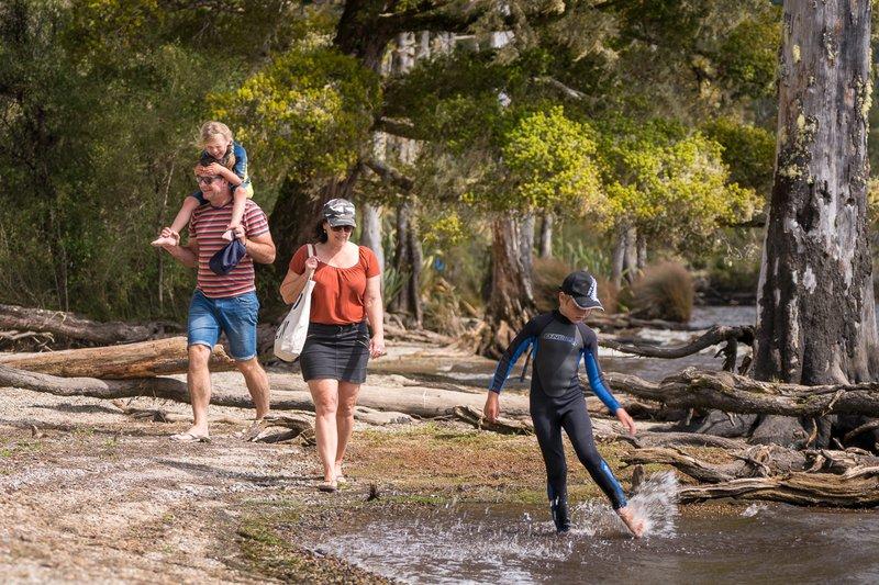Family at Lake Brunner