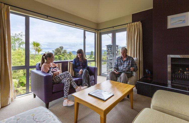Distinction Fox Glacier Guest Lounge