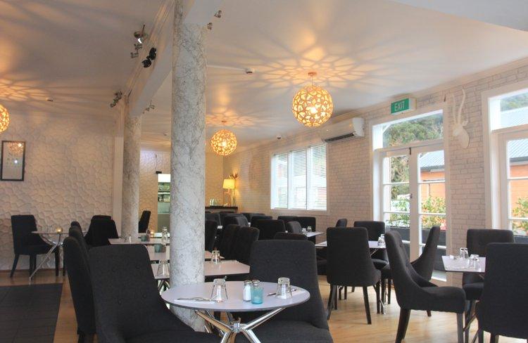 Inside Blue Ice Restaurant.