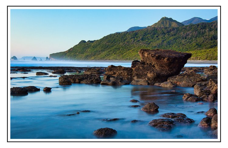 morning exploration of rock pools nine mile beach coast road greymouth from Breakers Boutique Accommodation
