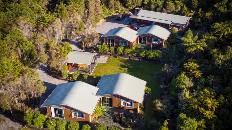 Aerial view of Goldfield Suites