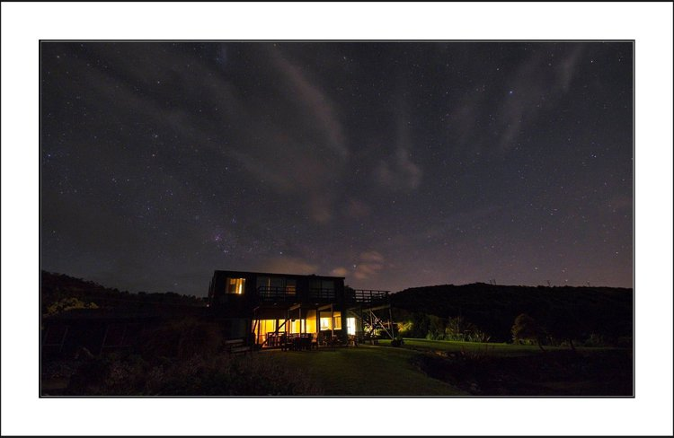 star lit skies above Breakers Boutique Accommodation Coast Road Greymouth