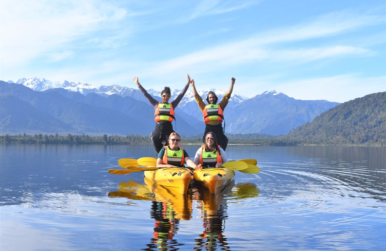 Guided Kayak Tours and Rentals on Lake Mapourika - only minutes from Franz Josef Glacier.