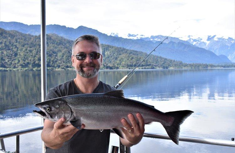 Salmon on Lake Mapourika