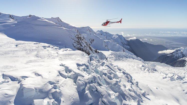 Flying over the Franz Josef Glacier