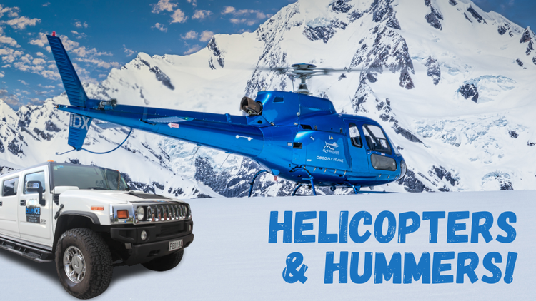 Helicopters & Hummers.