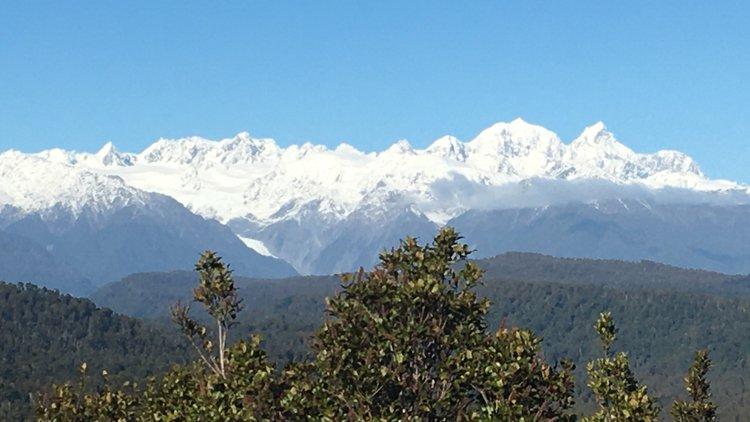 Views of Aoraki Mt Cook, Mt Tasman & Franz Josef Glacier from the Trig track walk.