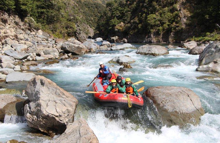 Rafting the rapids on the Waiau-Uwha three day rafting adventure.