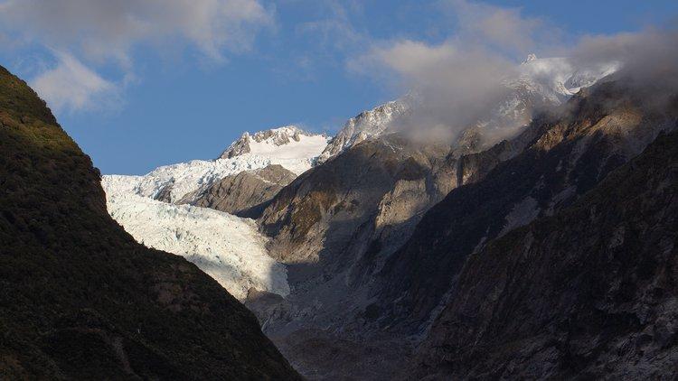 The iconic Franz Josef Glacier/Ka Roimata o Hine Hukatere.