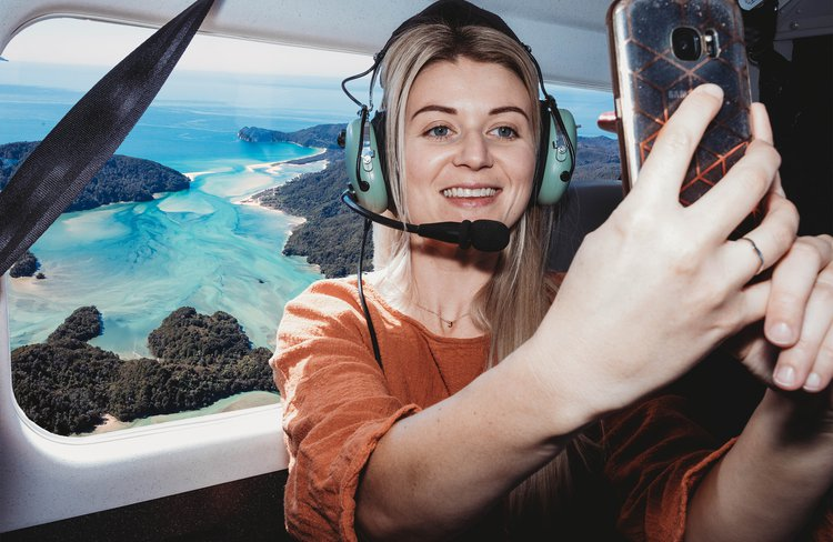 All scheduled flights are also scenic flights as we fly low to enjoy the stunning scenery of the Abel Tasman National Park, Marlborough Sounds and Kahurangi National Park.