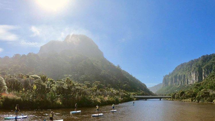 Paddle Boarding the beautiful Porari River