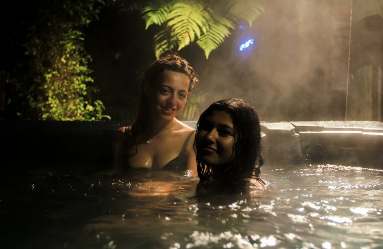In the spa