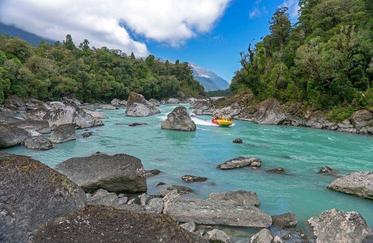 The Waiatoto River in Haast.