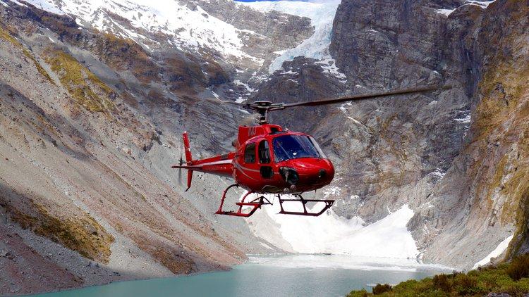 Precision Helicopters Hokitika outside Wilkinson Glacier.