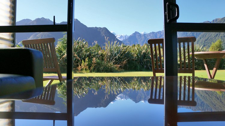 Views of Mt. Cool and Mt. Tasman.