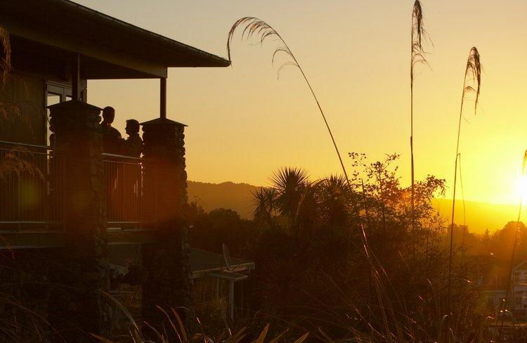 Sunset from Distinction Fox Glacier Balcony