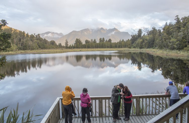 Lake Matheson - if you are unable to capture the perfect photo on your walk, there is a range of professional products available at ReflectioNZ Gifts & Gallery