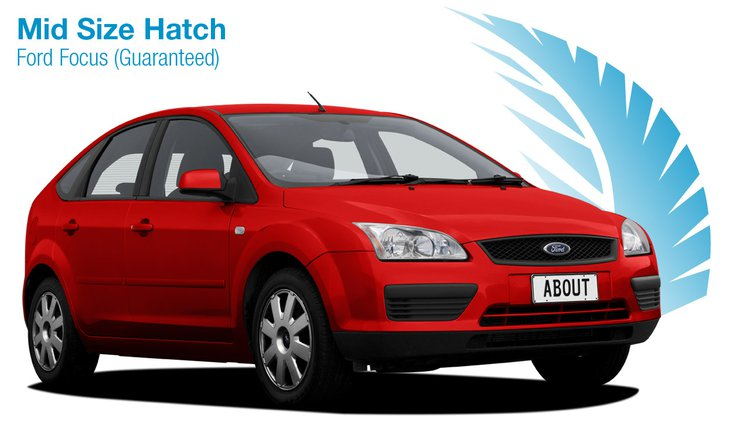 Mid Size Hatch - Ford Focus. About New Zealand Rental Cars.