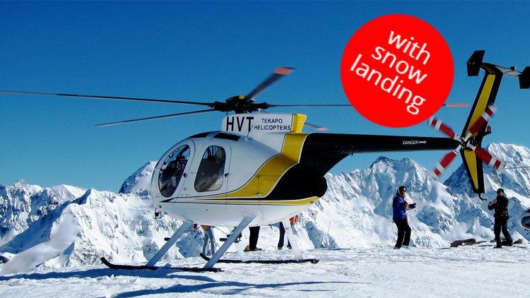 Fox Glazier with snow landing