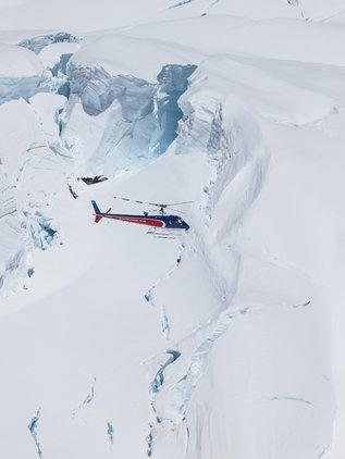 View the glaciers up close on a spectacular heli flight and landing