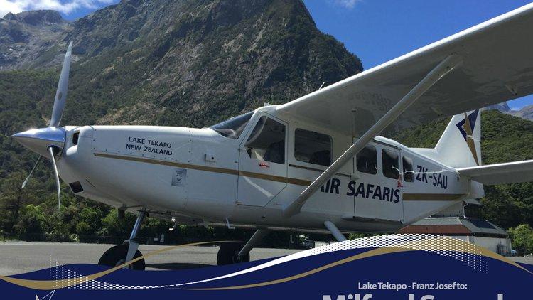 Airvan at Milford Sound.