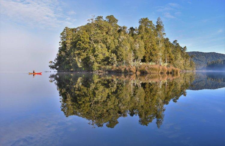 Lake Mapourika - a scenic gem on the wild West Coast.