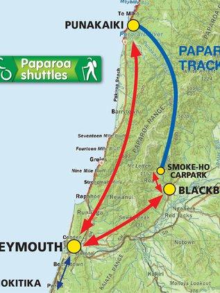 Paparoa Shuttles Map