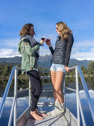 Enjoy a wine with a friend on the front viewing platform