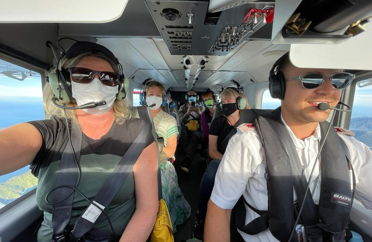 Selfie in-flight.