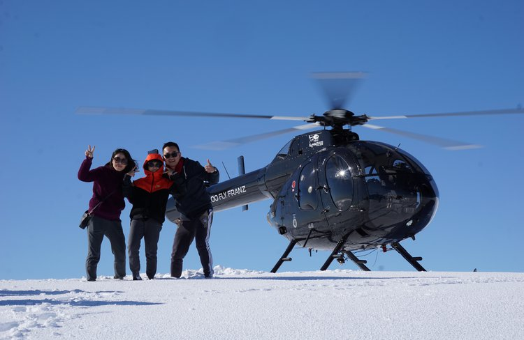Photo time with our MD520N helicopter.